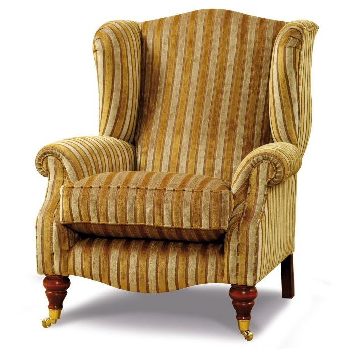 Traditional styled wing chair