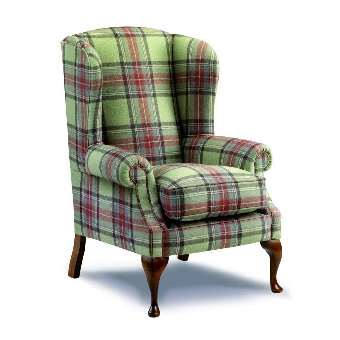 Severn chair upholstered in Abraham Moon wooollen fabric